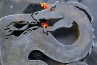 fire breathing dragon at beaver bushcraft with fire detail traditional flin