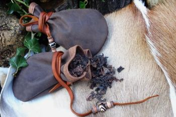 leather vintage leather medicine sami style pouches made by beaver bushcraf
