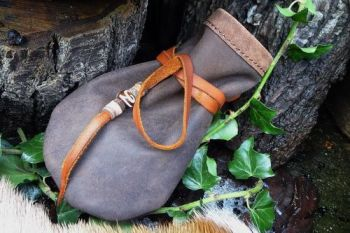leather vintage leather medicine pouch by beaver bushcraft