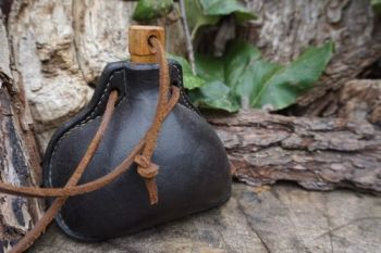 Leather- Bottle-Handmade tuder styler based on Mary Rose for Beaver Bushcr