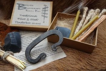 Fire a traditional flint and steel starter kit with C striker made by beave