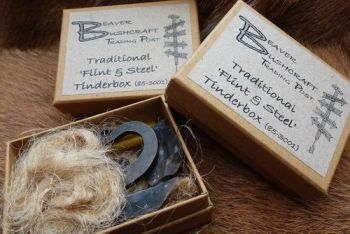 Fire our new flint and steel tinderboxes by beaver bushcraft