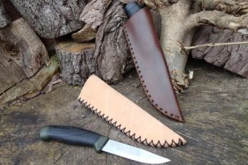 leather make your own leather mora sheaths showing options for beaver bushc