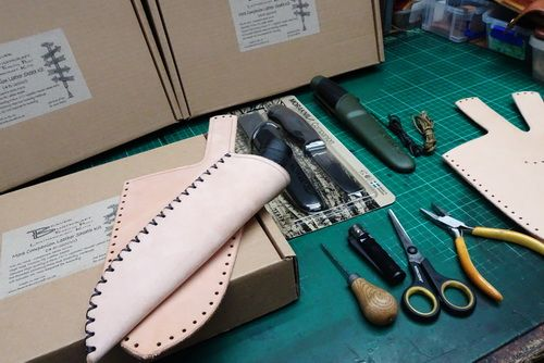 MAKE YOUR OWN - Mora Companion Leather Sheath Kit + Knife 45-2000