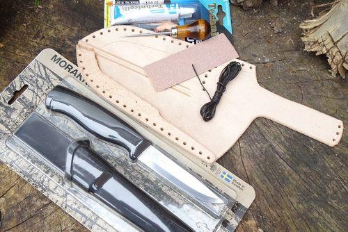 MAKE YOUR OWN - Mora Heavy Duty Companion Leather Sheath Kit + Knife 45-200