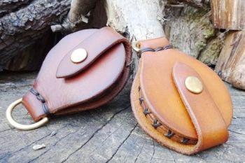 Fire. Handmade leather solar lens made by Beaver Bushcraft