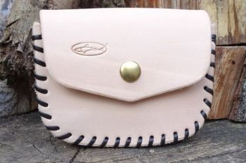 leather. Hand laced natural leather possibles pouch made for beaver bushcra