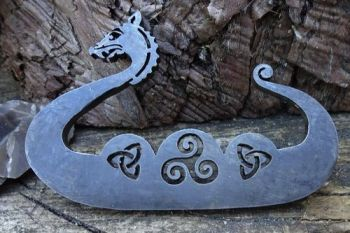 Fire Lighting. Mini Dragon Viking boat fire steel made by beaver bushcraft