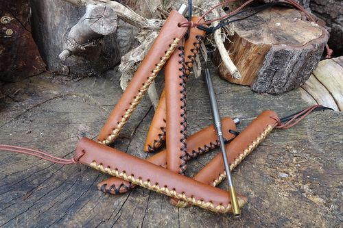 Fire Storm Telescopic Blowpipe & Scandi Neck Sheath - Hand Cross Stitched (