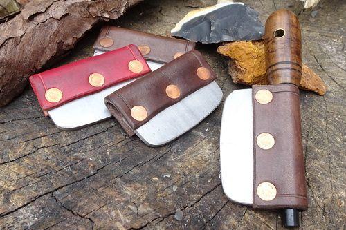 Leather - 'Ferro Rod Holder' - Traditional 'Flint & Steel' Striker (85-1511
