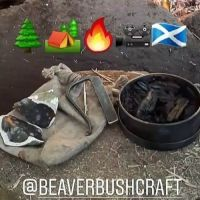 Rusty and the woodsman and beaver bushcraft