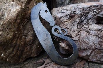 Fire Viking Horse with patina for beaver bushcraft