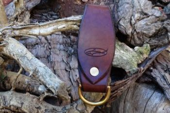 Leather ready made belt loop key ring made by beaver bushcraft