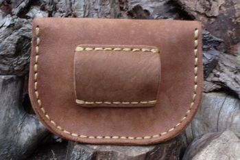 leather extra large nubuck belt pouch hand stitched by beaver bushcraft bac