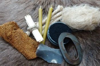 Tinderbox tinder kit for the oval flint & steel kit made by beaver bushcraf