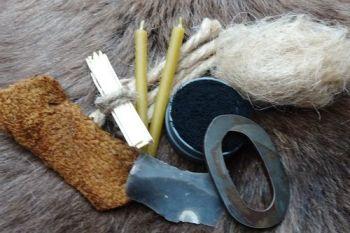 Tinderbox tinder kit for the oval flint & steel kit made by beaver bushcraf