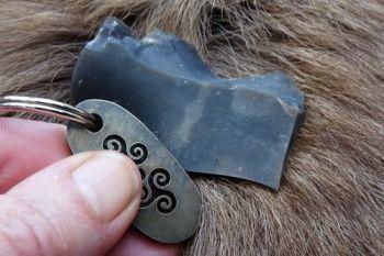 Fire mini triskele flint & steel striker key ring by beaver bushcraft