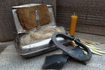 Vintage 1930s german silver retro tinderbox by beaver bushcraft