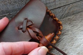Vintage one off tinder pouch by beaver bushcraft