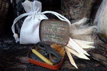 Vintahe 1 snuff box tinder box by beaver bushcraft
