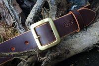 Handmade Classic Leather Belt + Full Brass Buckle - Ready Made