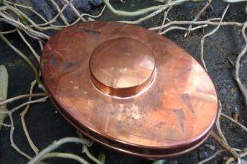 Vintage hudson bay tinderbox aged copper tin by beaver bushcraft