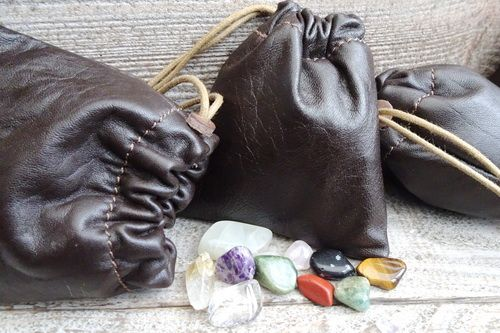Super Soft Leather 'Possibles' Pouch - Small (45-6210) Nut Brown