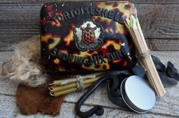 Vintage rare tobacco tin 1930s made into tinder box by beaver bushcraft