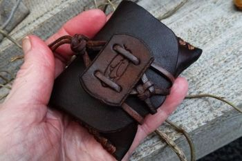 Vintage tobacco pouch made by the workshop elf by beaver bushcraft