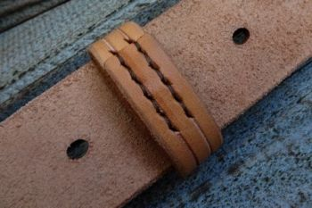 leather hand stitched free runner fro belt loop by beaver bushcraft