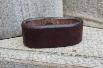 Leather free running belt loop rivetted by beaver bushcraft