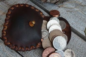leather hard leather wet moulded coin poches by beaver bushcraft