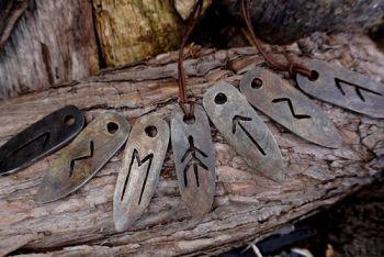 fire viking rune pendants for flint and steel by beaver bushcraft
