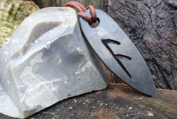 Fire rune fire steel pendant by beaver bushcraft