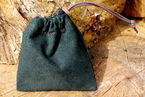 Super Soft Suede Small 'Possibles' Pouch - Forest Green (45-6210)
