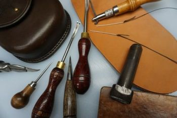 Bespoke leather work at beaver bushcraft