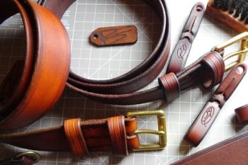 Leather bespoke belts and add ons at beaver bushcraft