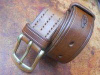Leather-Belt-501-Light Brown version-rolled by beaver bushcraft