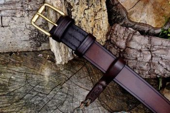 leather 911 belt with belt loop for beaver bushcraft