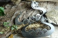 Viking Dragon Long-ship with Celtic Knots - Traditional 'Flint & Steel' Fire Striker - 2 x Sizes (85- 1761)