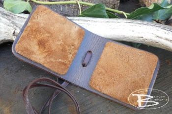 Leather & Amadou Patch Fly Fishing Drier Wallet - Bespoke Item - (45-9010)