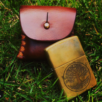 dru-nen- of his beaver bushcraft bespoke leather zippo lighter case