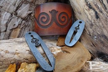 Fire steels and leather cuffs made to match at beaver bushcraft