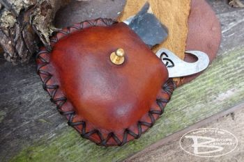 leather mini purse used for flint and steel by beaver moon