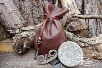 Vintage Round 'Snuff Box' Tinderbox - Vintage Waxed Leather  Pouch - Limited Edition