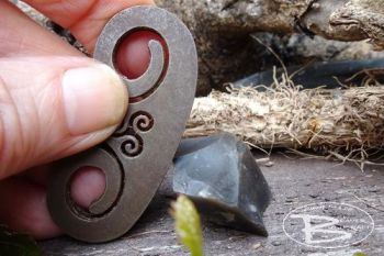 Vintage mini fire steel for old school tinderbox by beaver bushcraft