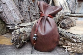 Vintage leather waxed pouch made by beaver moon