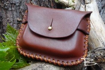 vintage tinderbox leather pouch made for old silver snuff box by beaver moo