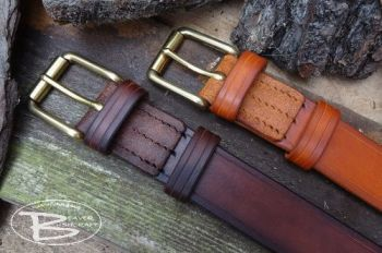 leather hand stitched 911 belts made by beaver bushcraft
