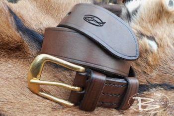leather 511 belt in chestnut brown by beaer bushcraft